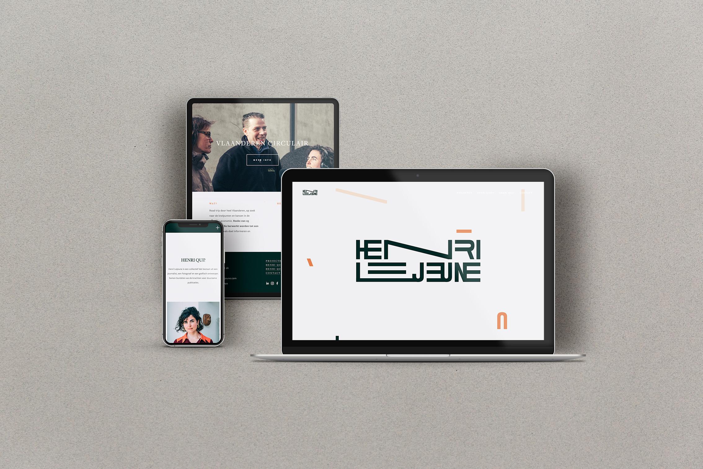 Branding Website Henri Lejeune Chloe