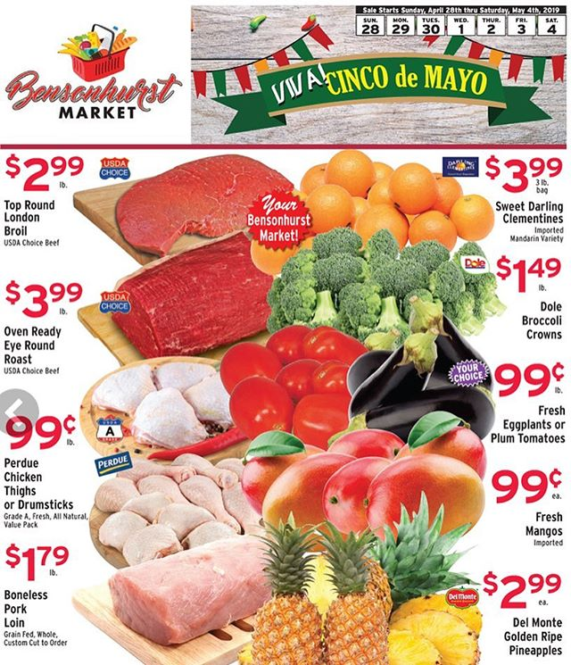 Happy Cinco de Mayo.  Enjoy savings this week . . . . #bensonhurstmarket #grocery #shopping #food #savemoney #groceryshopping #groceries #supermarket #grocerystore #instagrocery #instafood #list #organic #specials #deals #ethnic #produce #deli #fresh #store #grocerylist #sale #cincodemayo