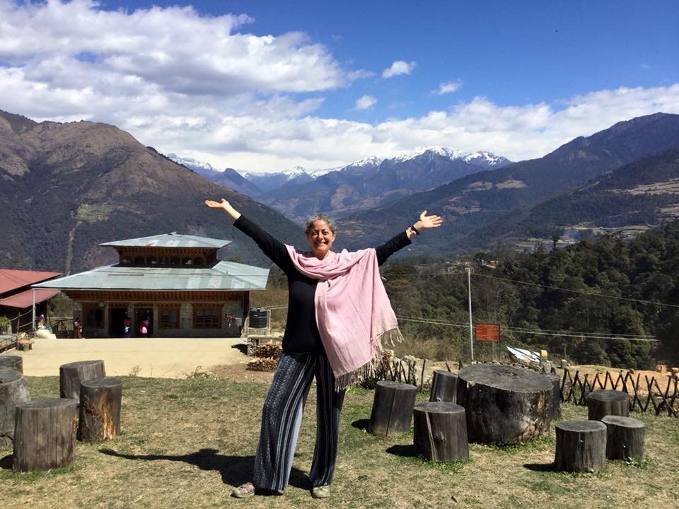 In Bhutan, March 2016. My transformation includes losing nearly 65 pounds, creating a full-time Ayurvedic practice, getting married and raising three dogs.