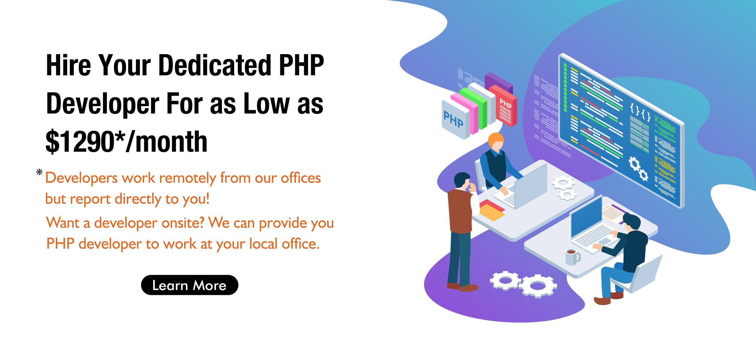 Hire PHP Developer For $1290* a Month