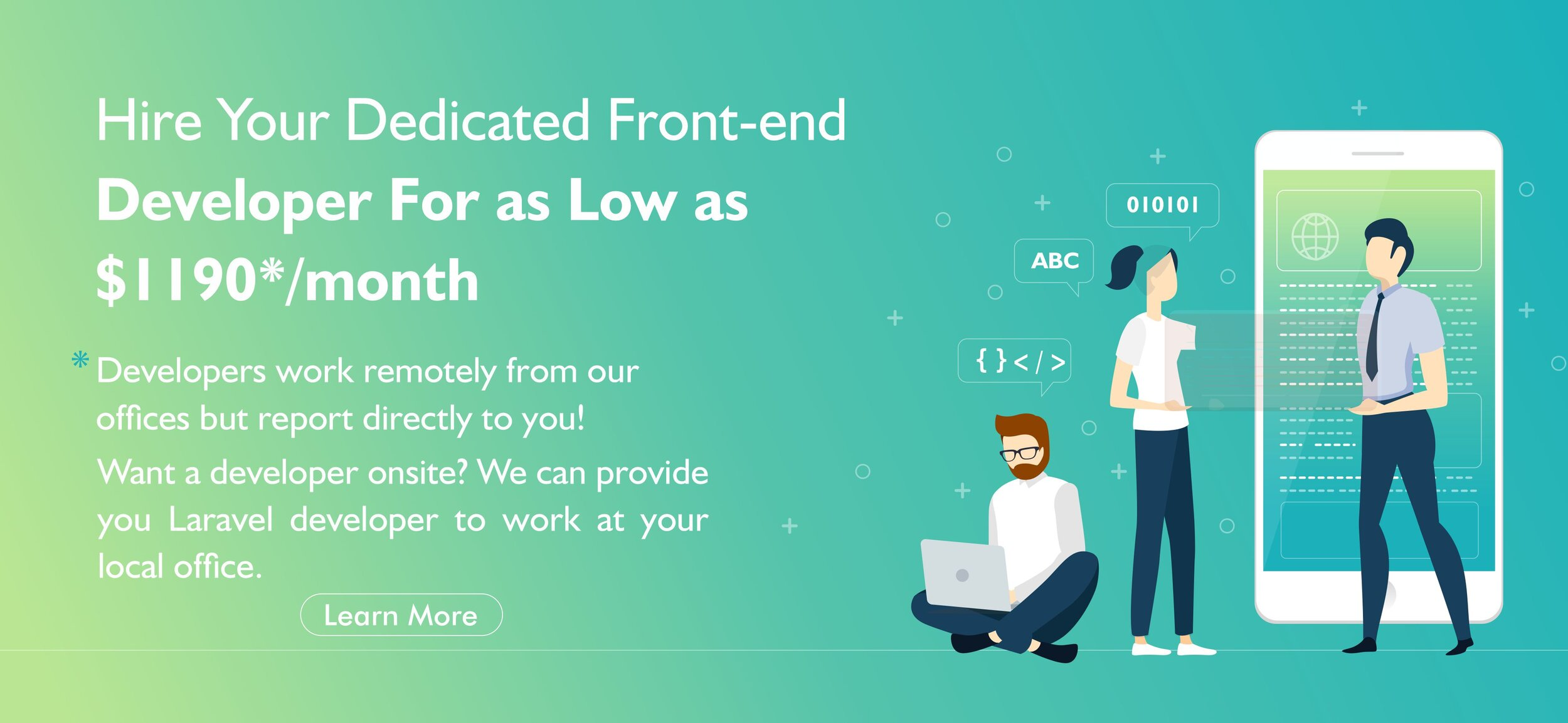 Hire Front-End Developers at $1190* a Month