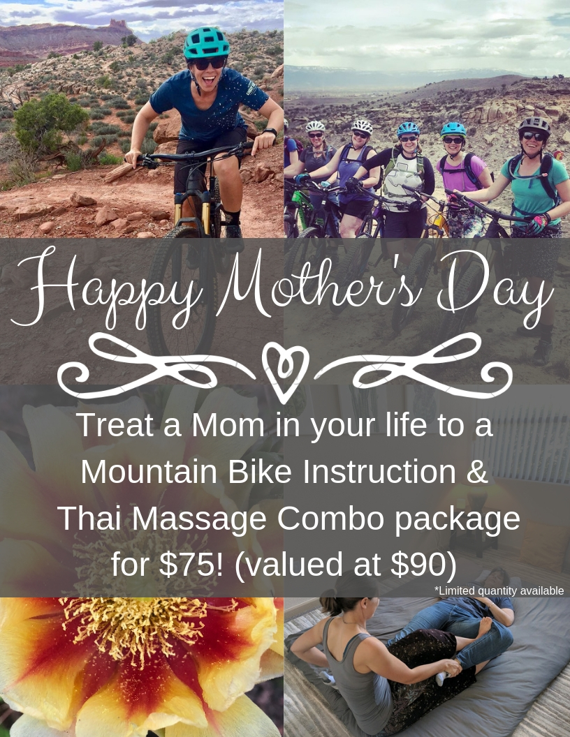 - One hour 1:1 or group instruction (depending on her preference)& 1/2 hour Thai Yoga MassageThis is an incredible value and a unique opportunity to experience these two services.Don't miss out! Quantities are limited!Contact Dawn at Boneshaker Adventures970-261-0572