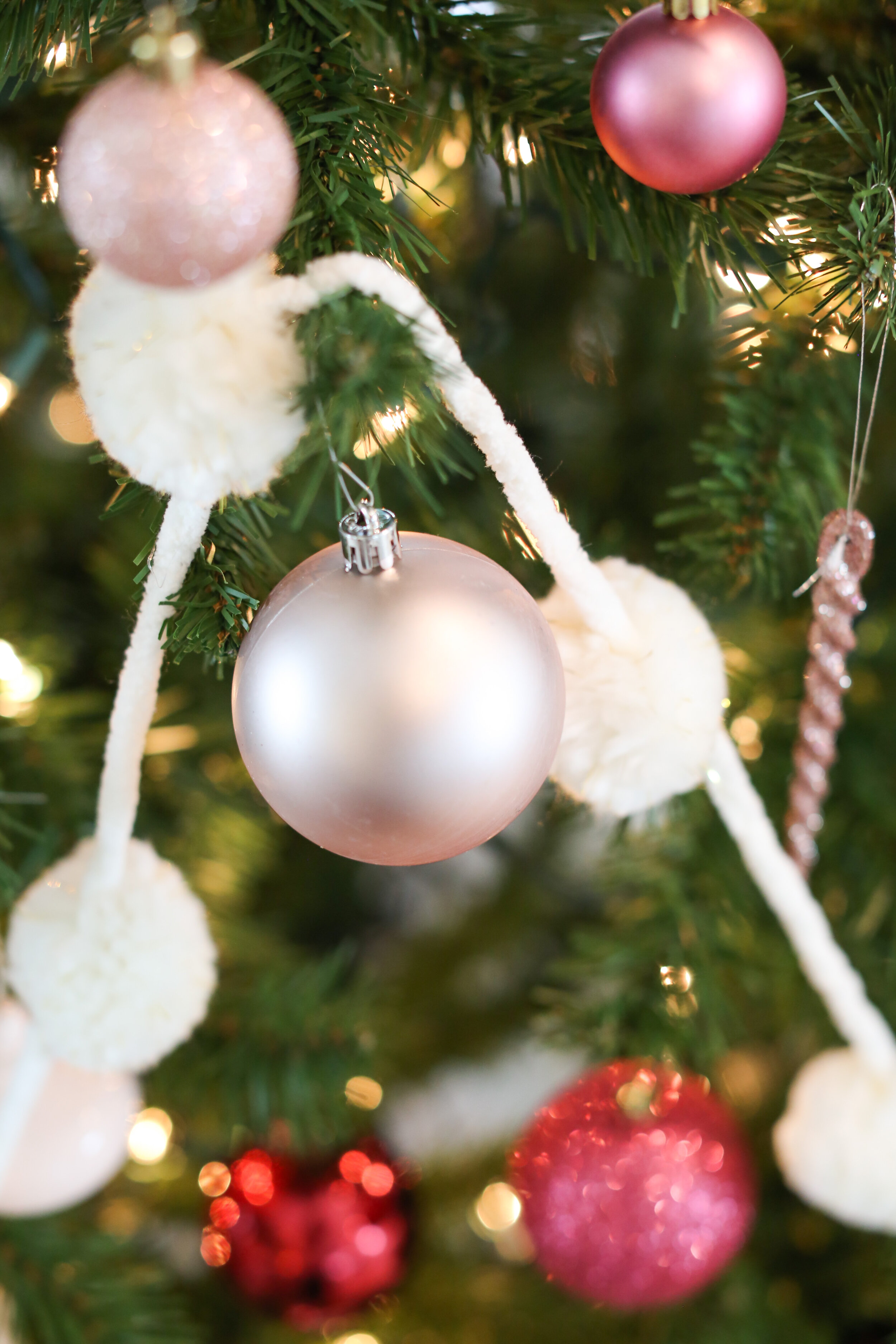 A Neutral Rose Color Christmas Tree Flourish Home