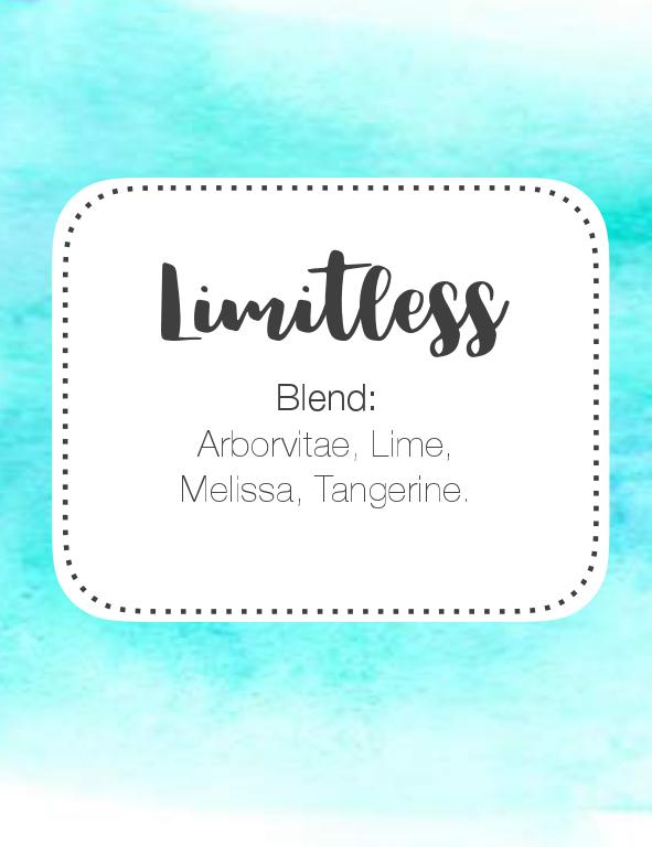 Limitless Roller Bottle Blend 10ml Label FREE DOWNLOAD