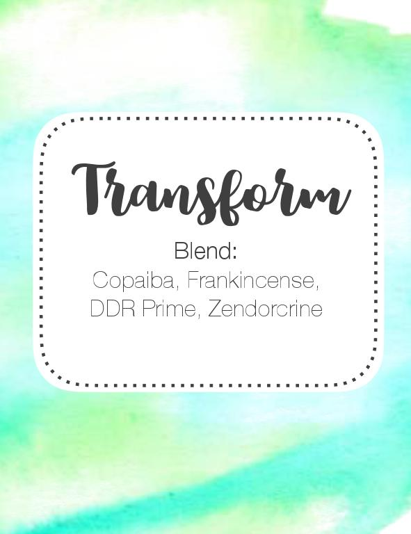 Transform Roller Bottle Blend 10ml Label FREE DOWNLOAD