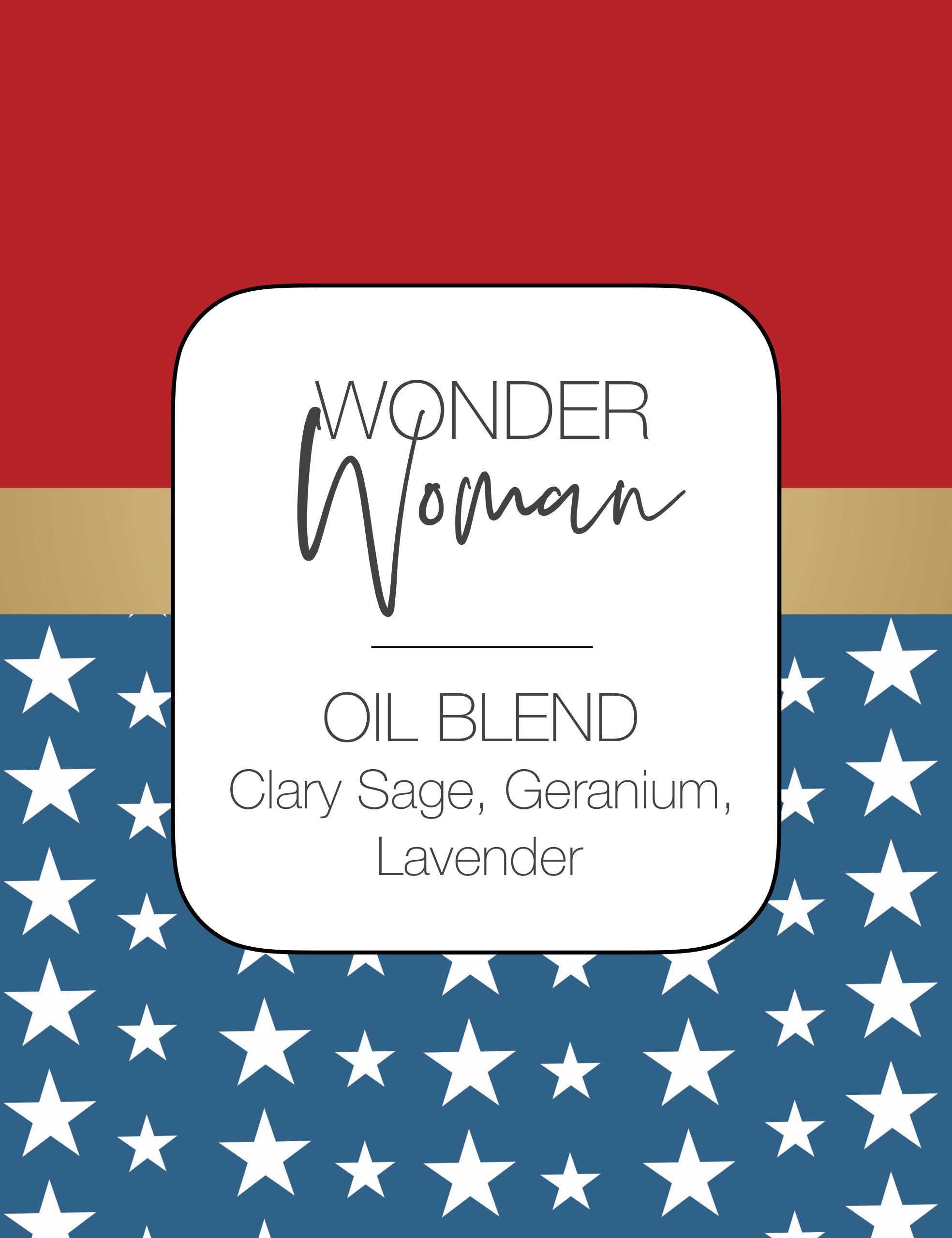 Wonder Woman Roller Bottle Blend Hoo Happiness