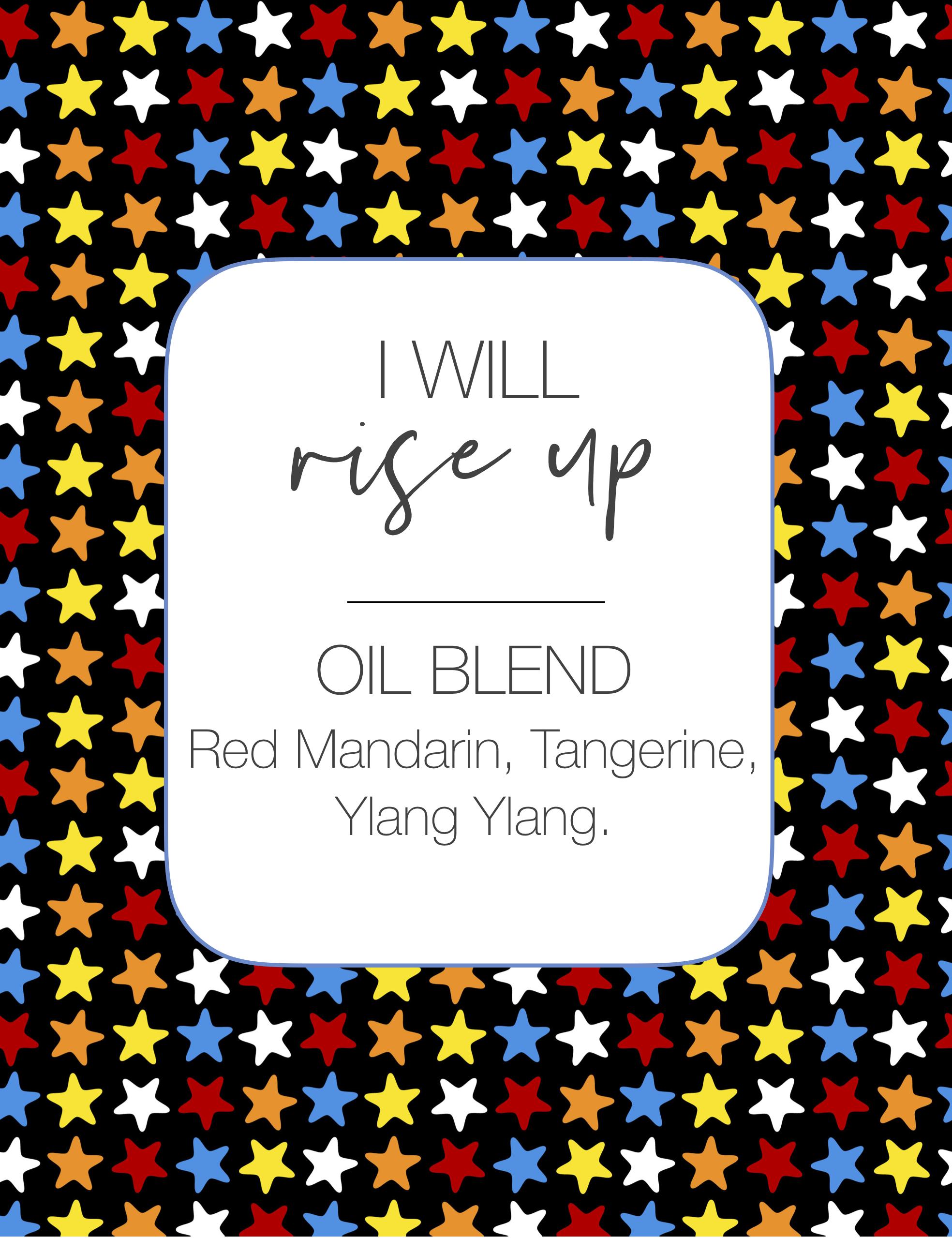 I will rise up 10ml Roller Bottle Blend Label JPEG