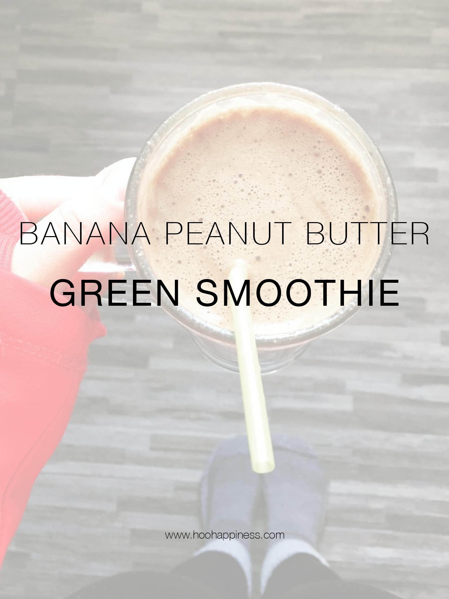 Protein + Power Packed Peanut Butter Vegan Keto Grreen Smootie HOO Happiness Blog