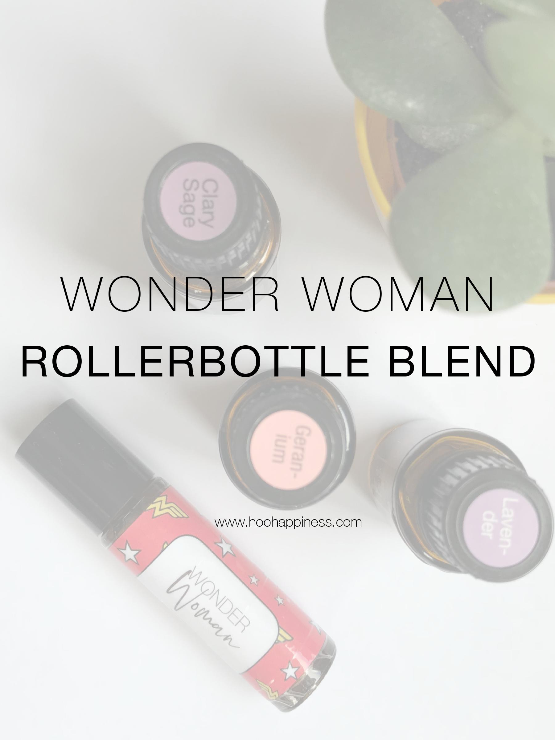 Wonder Woman Essential Oil Rollerbottle Blend HOO Happiness Blog, FREE Downloadable label