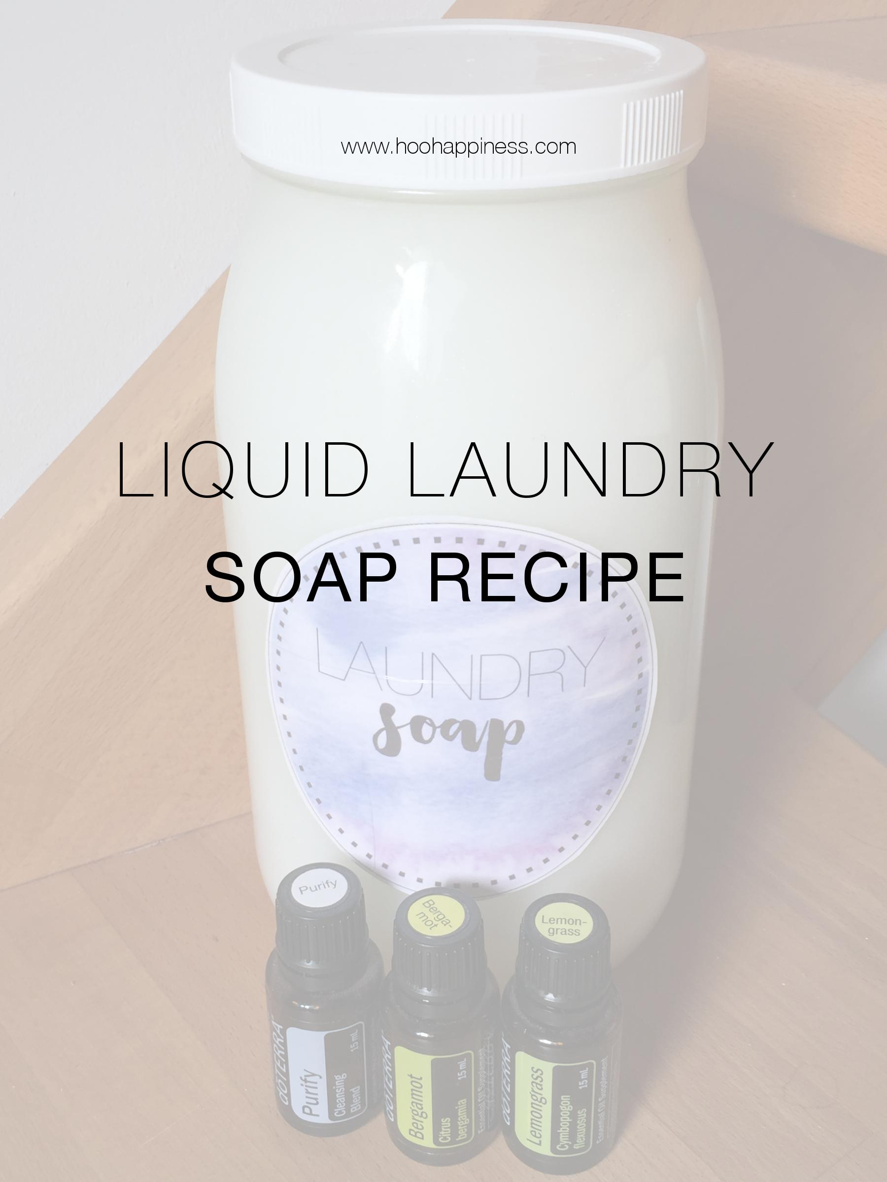 All natural do-it-yourself liquid laundry soap, HOO Happiness Blog