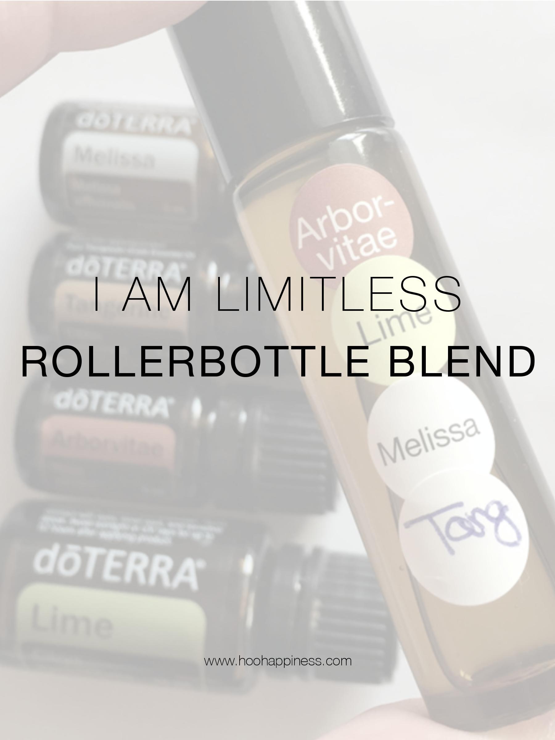 Limitless Rollerbottle Blend, Essential Oils, HOO Happiness Blog