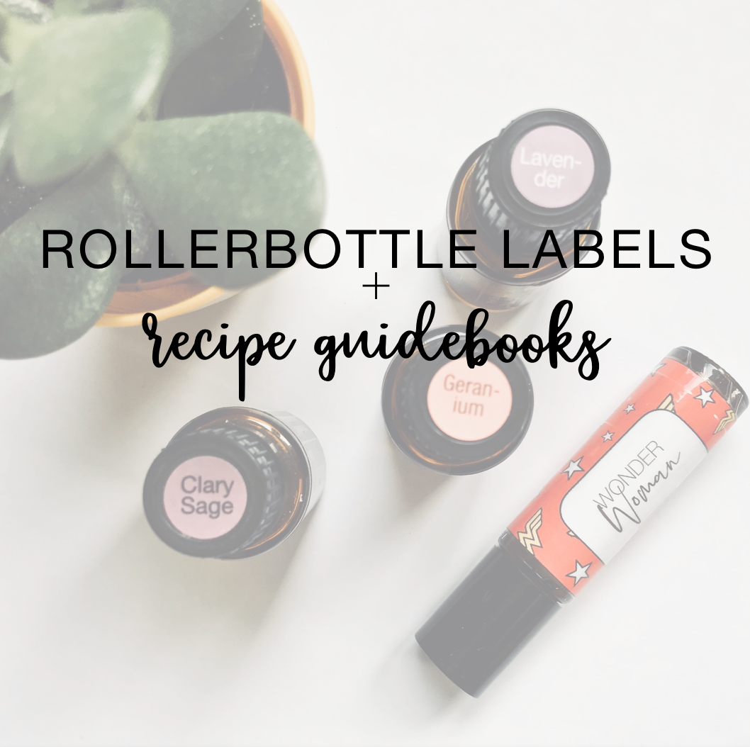 Purchase Rollerbottle Labels + Recipe Guidebooks