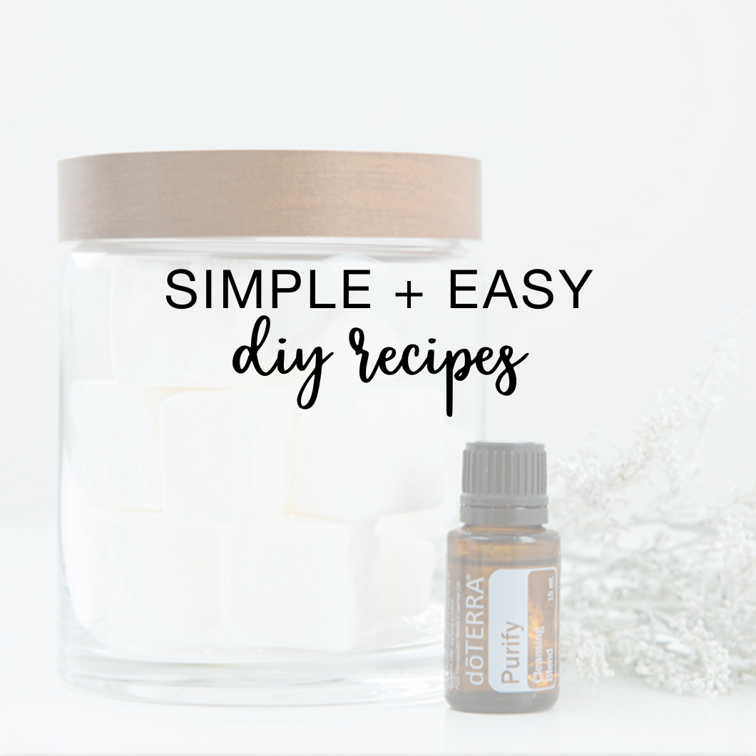 Simple + Easy Do-It-Yourself Recipes with Essential Oils
