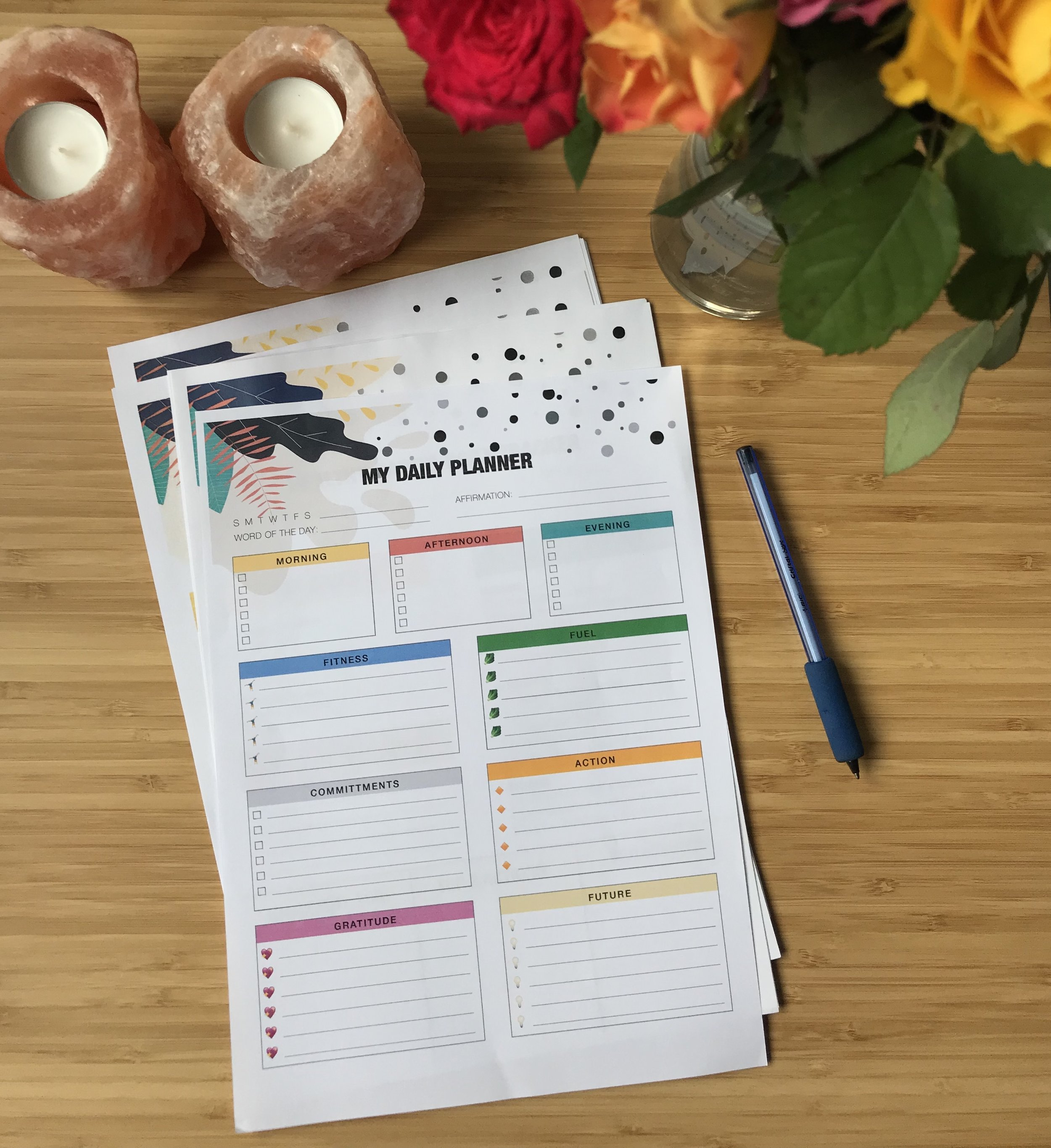 Free Download: Daily Planner Page