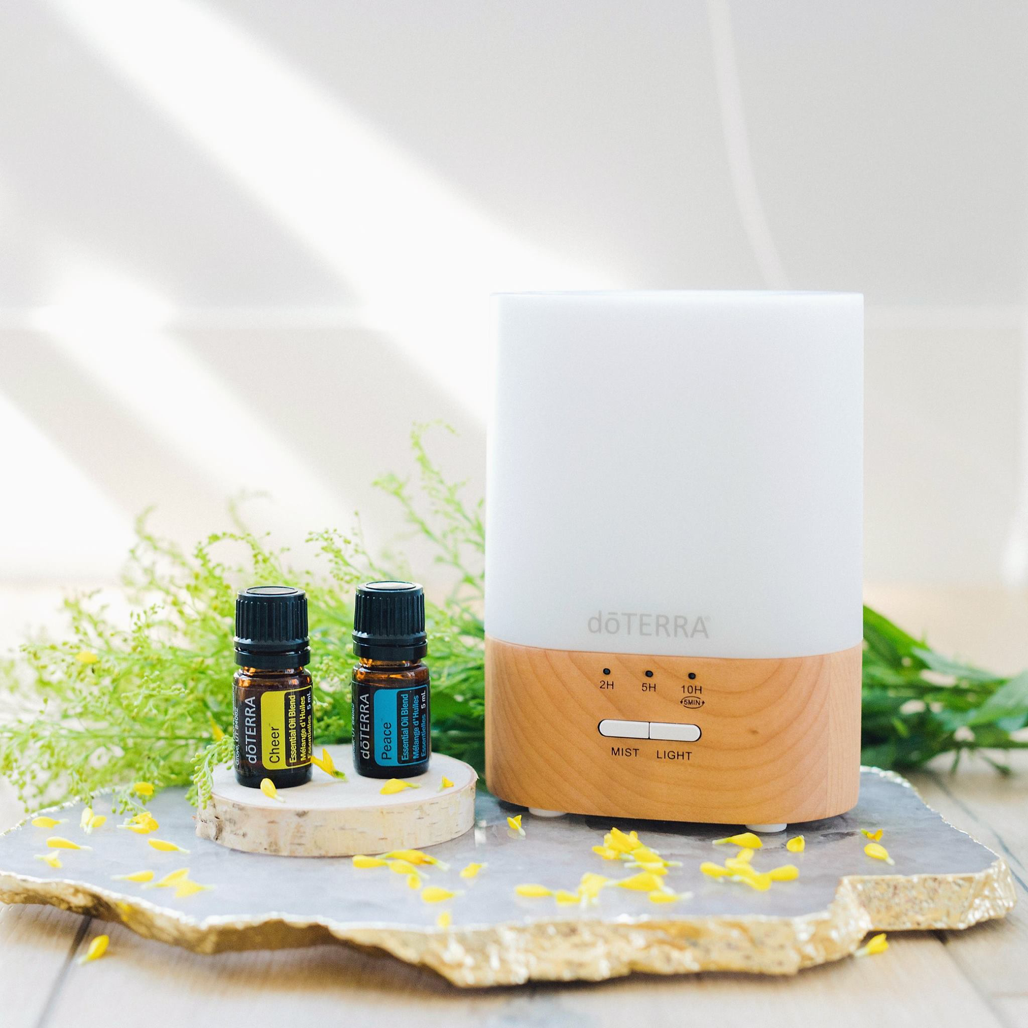 The Power of Diffusing Essential Oils in your Home, dōTERRA's Lumo Diffuser, HOO Happiness