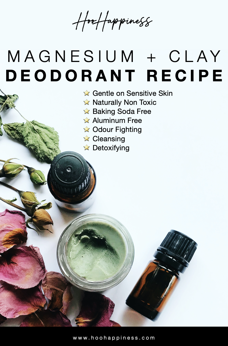 DIY Magnesium + Clay Deodorant Recipe — HOO Happiness
