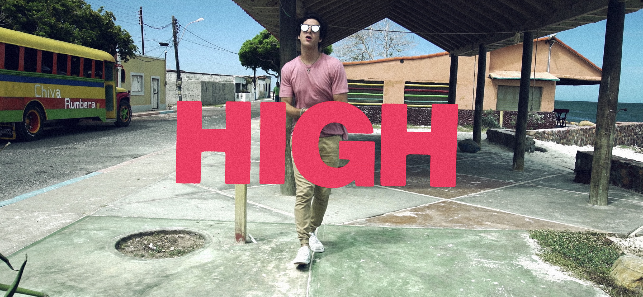 Lettering designed for the HIGH music video.