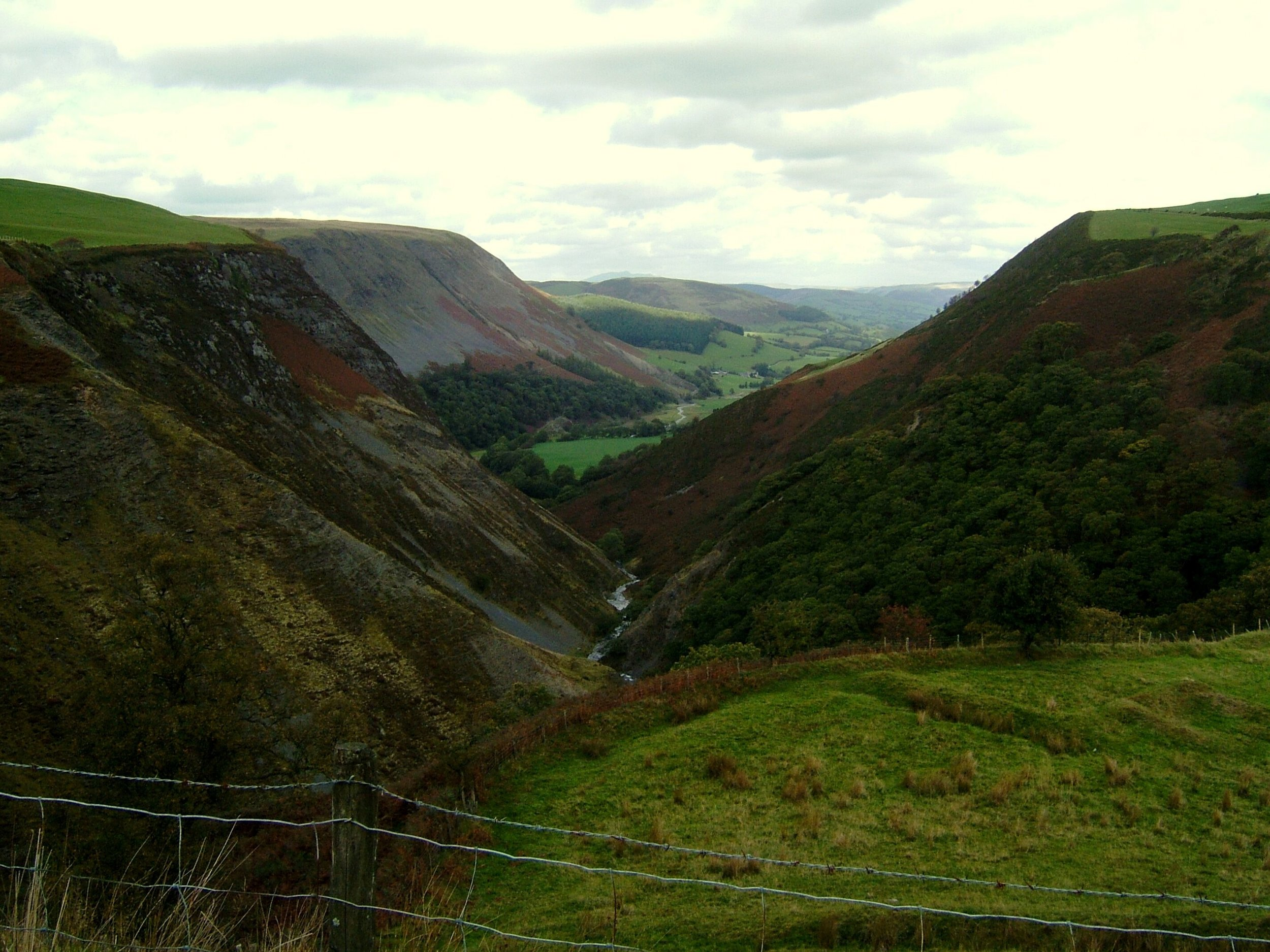 Dylife Gorge (about 7 miles from the cottage)