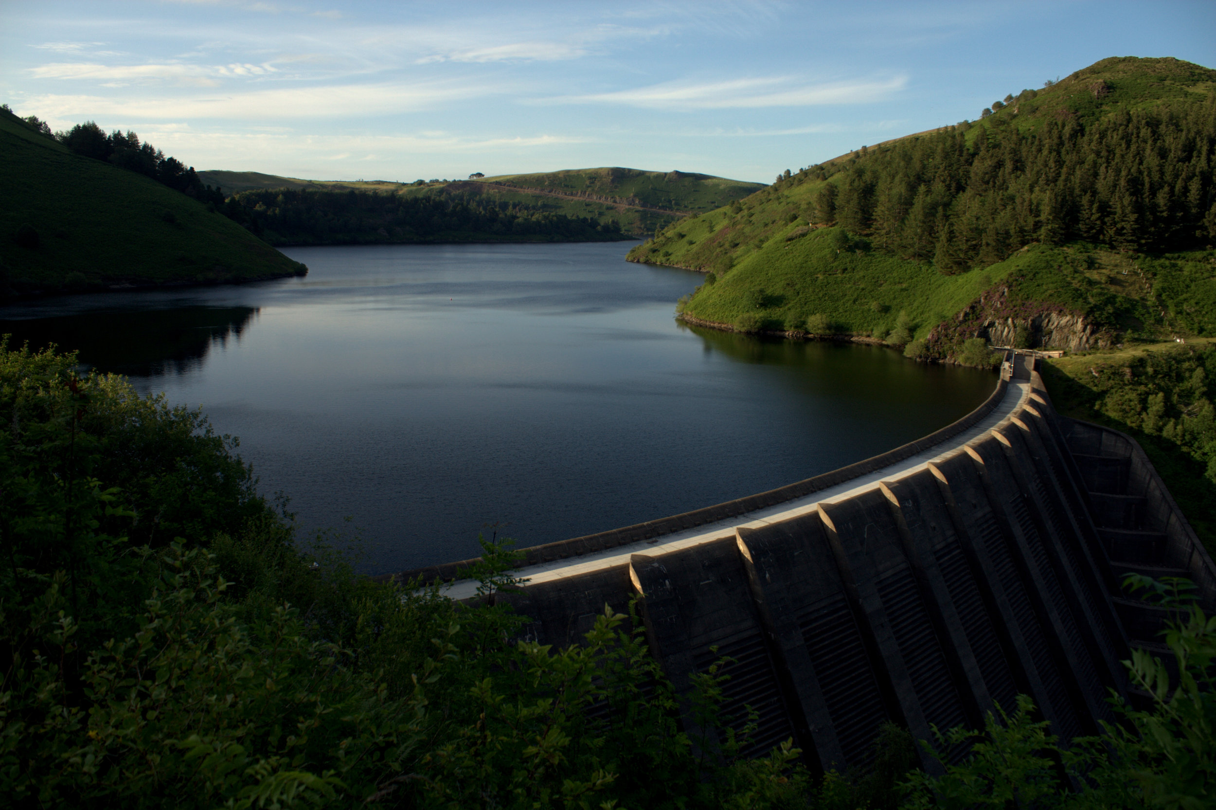Clwedog Reservoir (about 4 miles)