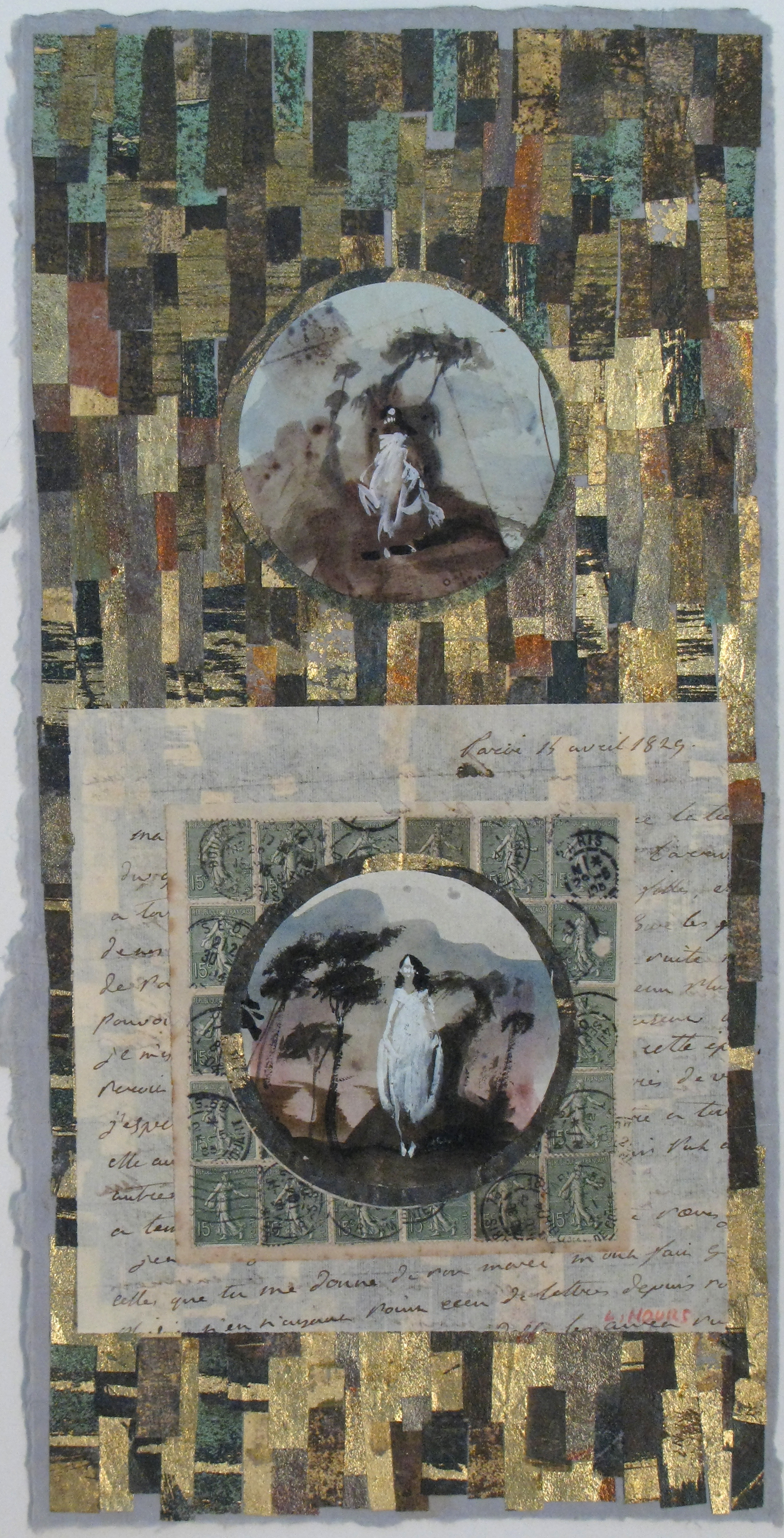 Women on Gold Collage