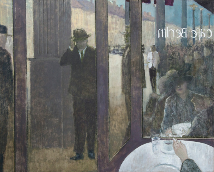 """Gentleman Entering Cafe Berlin"" by James Stewart"