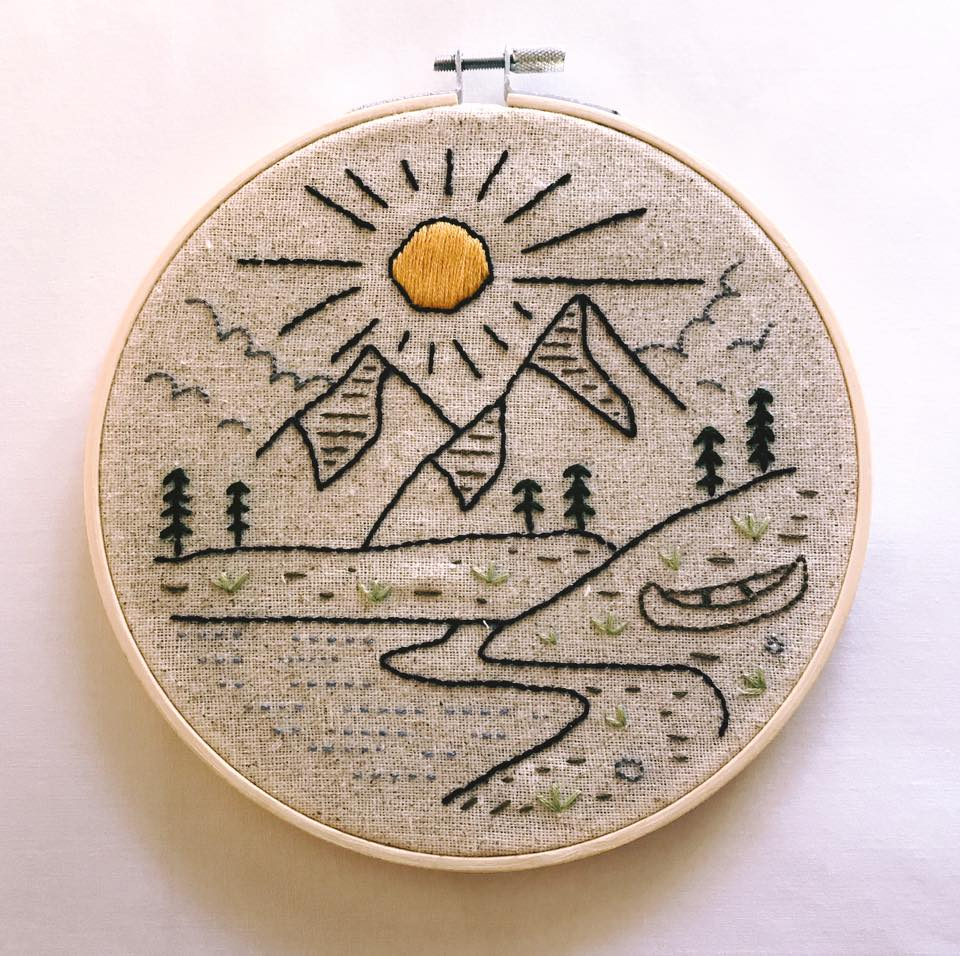 Copy of Embroidery keeps her sane