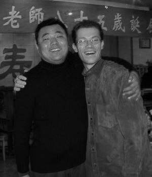 Tom with one of his fellow brothers in Beijing.