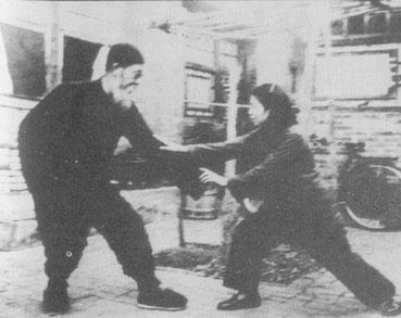 Master Sun Cunzhou training with his niece, Sun Jianyun