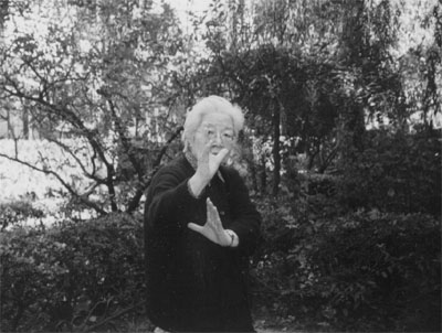 Master Sun Shurong in a traditional Bagua posture