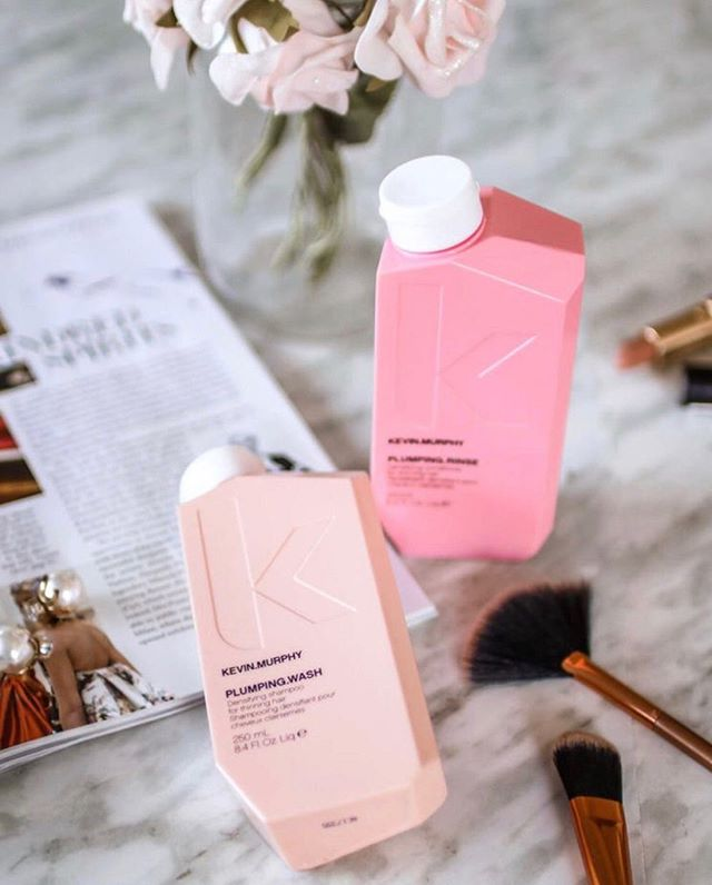 @love_kevin_murphy #PLUMPINGWASH & #PLUMPINGRINSE 💗🌸 ✔️Thickens without weighing down the hair ✔️Stimulates circulation in the scalp while nourishing the hair follicles ✔️Helps maintain the integrity of your hair's health ✔️Creates volume, while delivering softness and shine ✔️Ideal for all hair types, especially fine and ageing hair ✔️Sulphate, paraben and cruelty-free