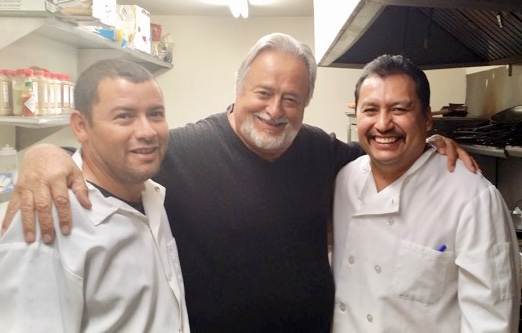 Founder, George La Forge with Sous Chef, Hector Vega and Chef de Cuisine, Osiel Gonzalez