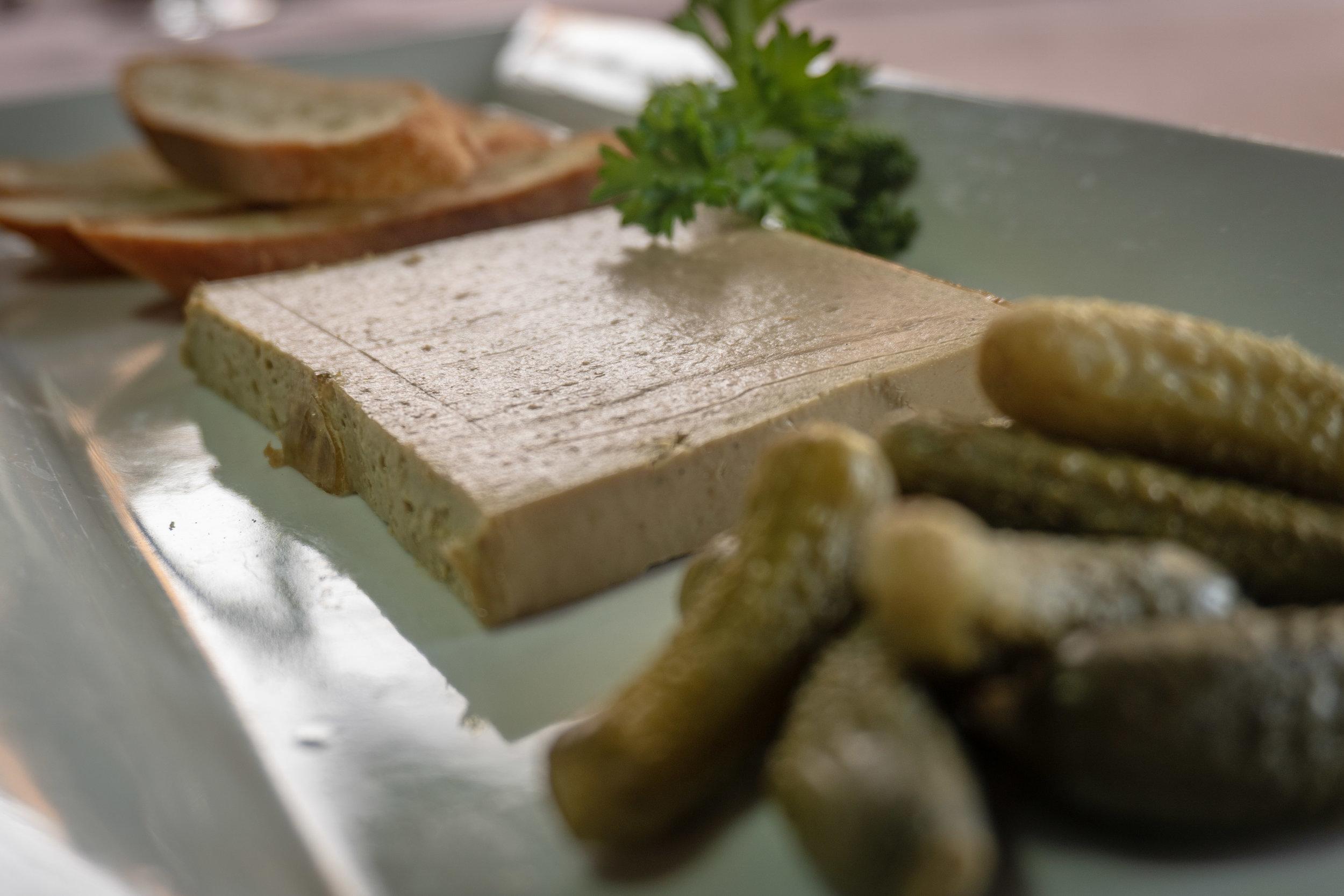 Le Pâté de Canard, Cornichons & Toasted Baguette