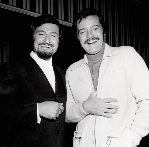 Georges with Robert Goulet - 1974