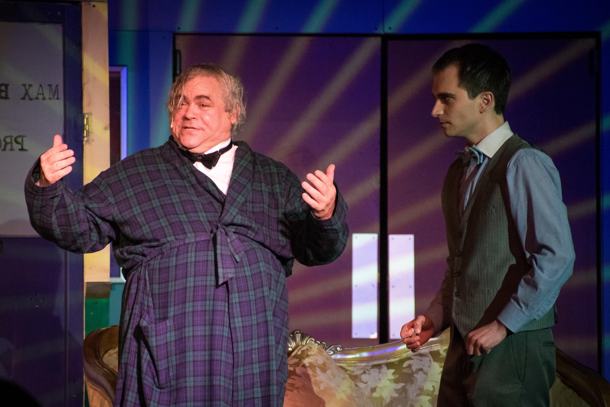 B. Thomas Rinaldi (L) as Max Bialystock and Henry Cyr (R) as Leo Bloom