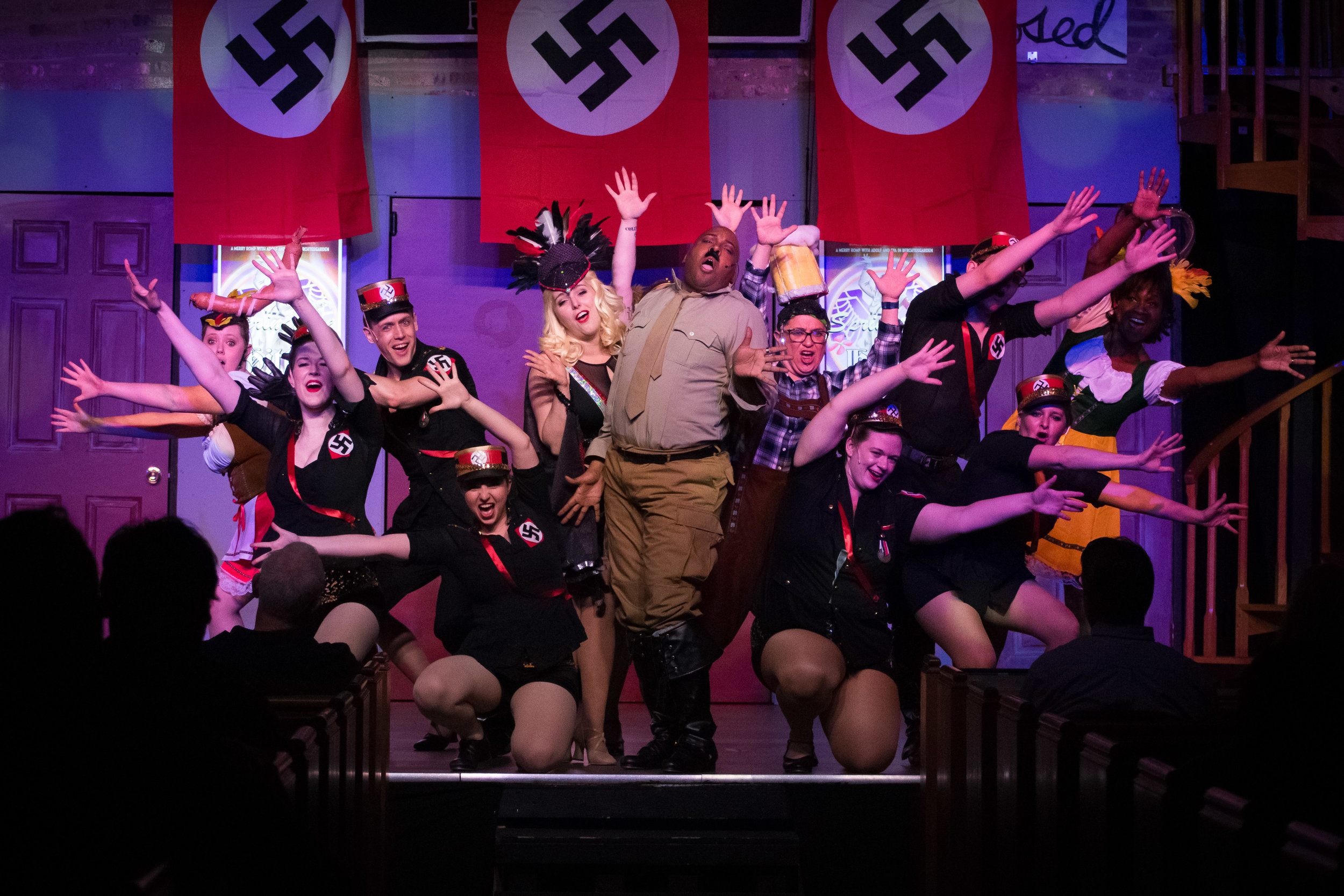 J Purnell Hargrove (C) and the cast of  The Producers