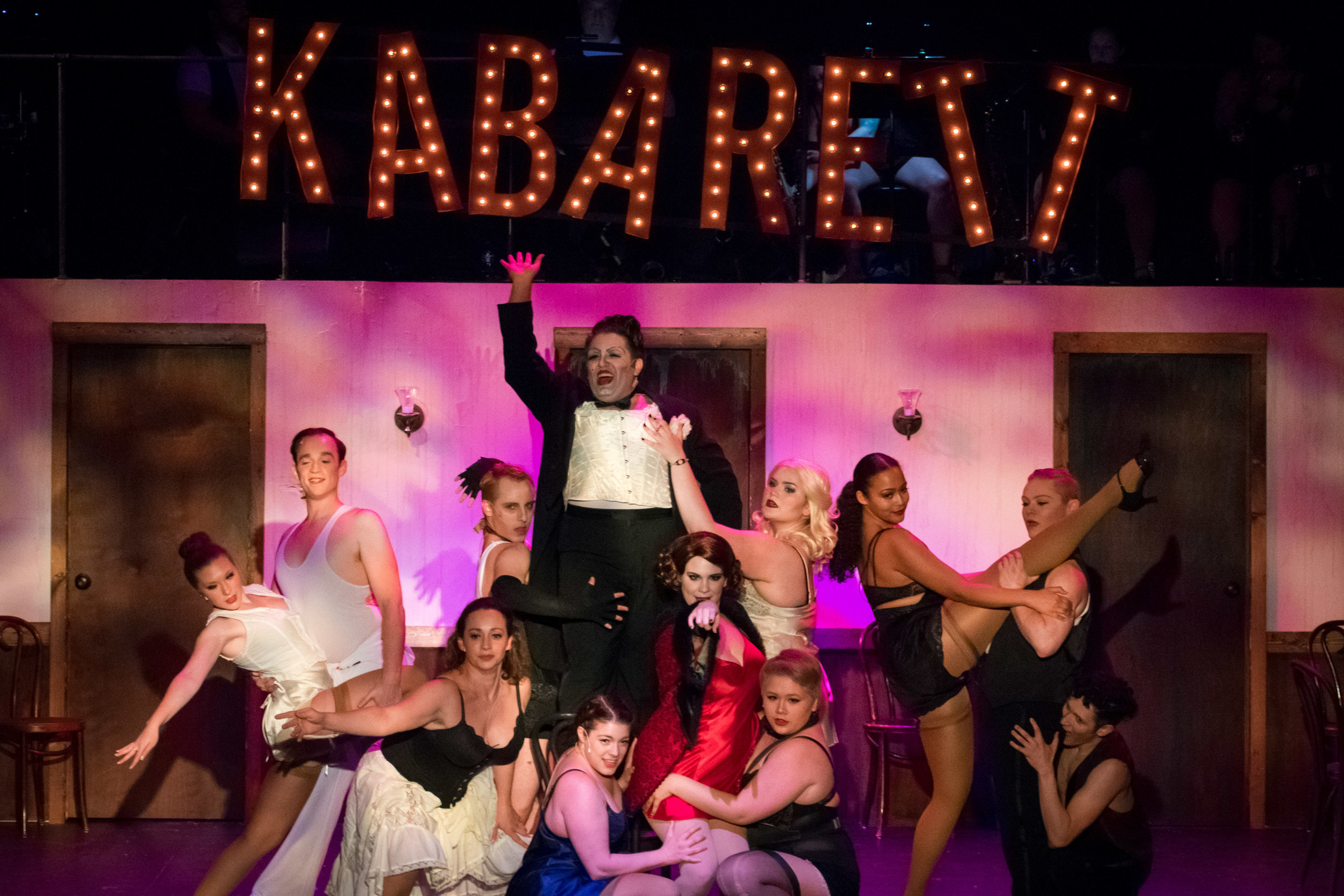 The Kit Kat Dancers of Cabaret at Silhouette Stages