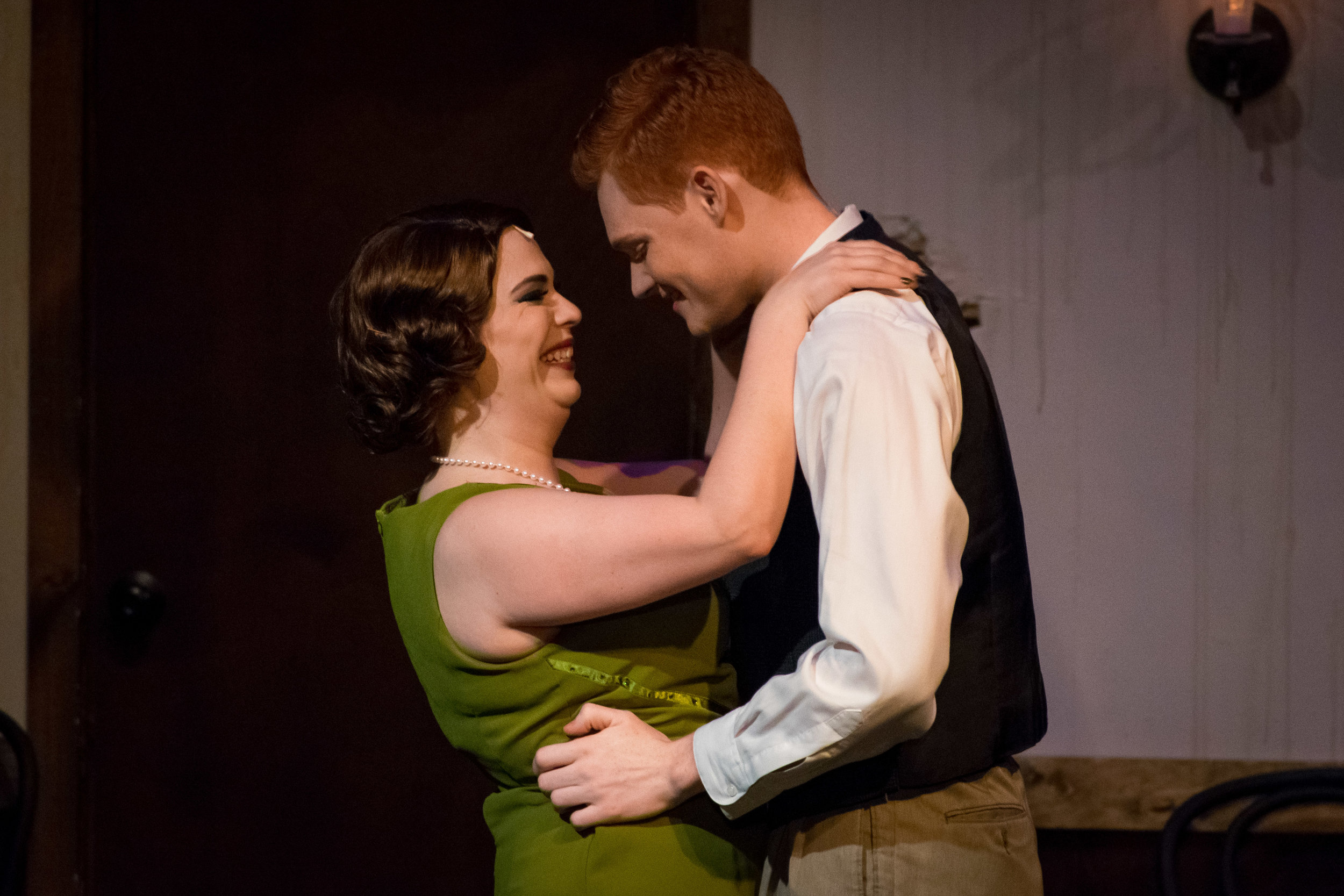 Megan Mostow and Seth Fallon as Sally and Cliff
