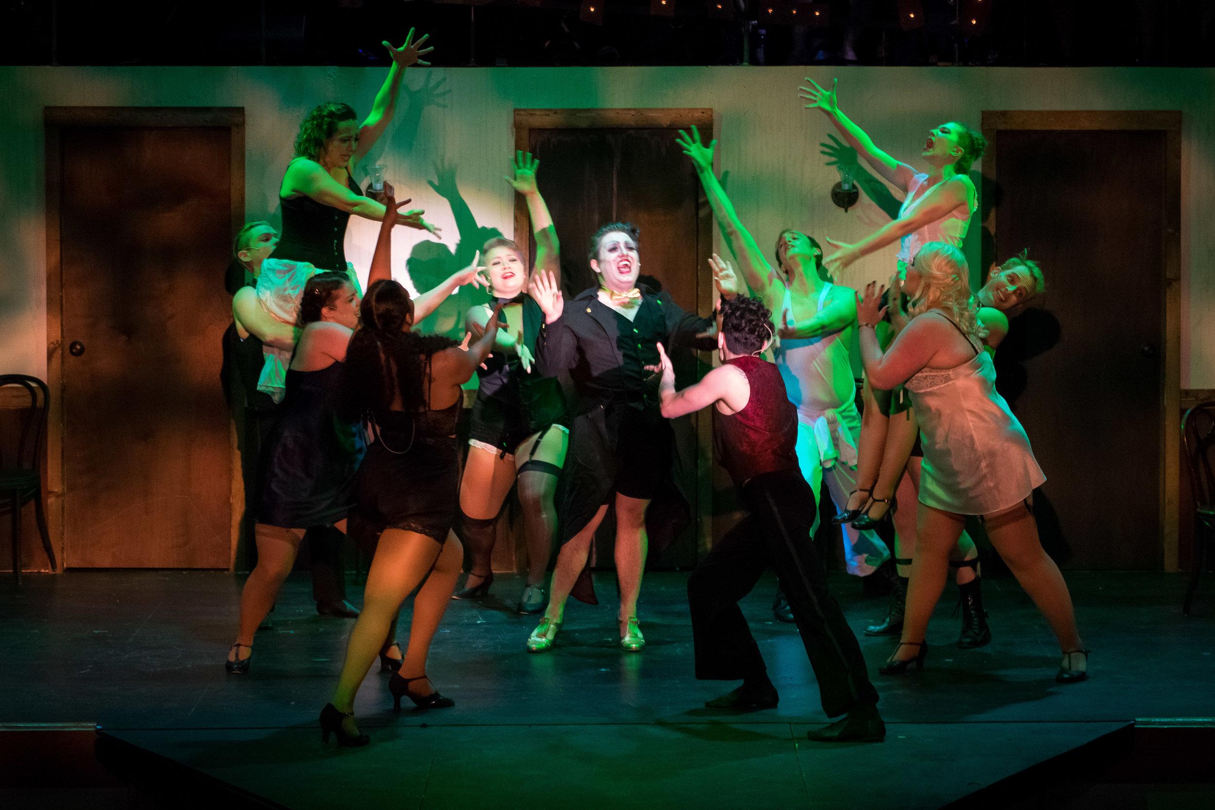 The Kit Kat Dancers of Cabaret