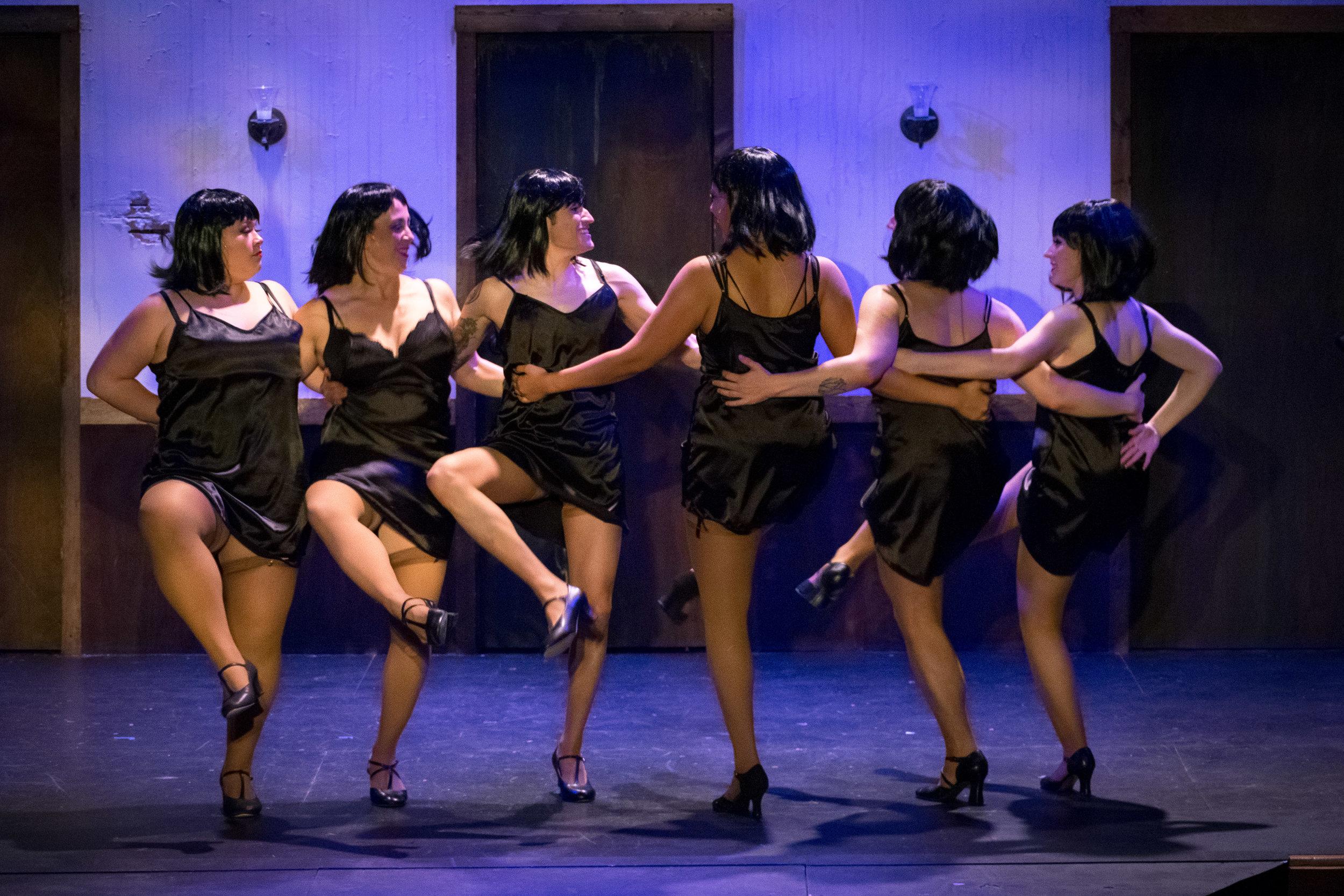 Some of the Kit Kat Dancers in Cabaret