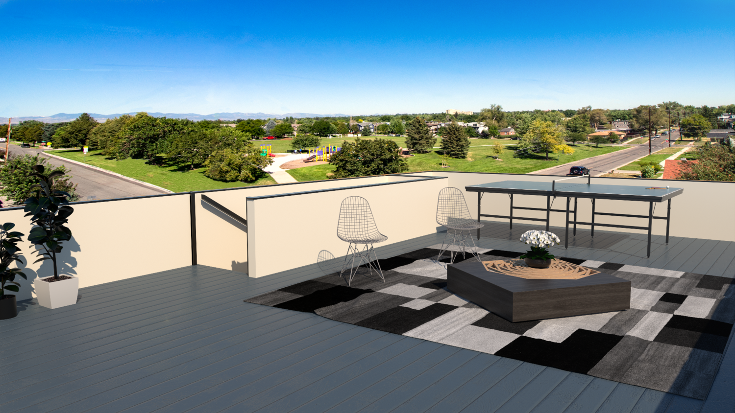Other Features - - Large rooftop decks with composite decking and beautiful views- Hot tub compatible roof decks- Water and gas lines on roof- Engineered hardwood that flows throughout the entire 2nd floor and 1st flight of stairs- Smart home features (Ring video doorbell, touchscreen keyless lock, Nest thermostat, smart home control garage door, Ring security system.)- Open metal railings- LED lighting- Ceiling fan in the master bedroom