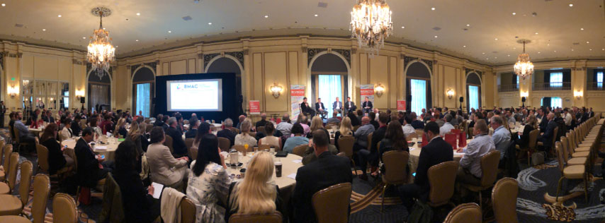 """PICTURED ABOVE: Encore at Columbia Station was featured during the 2018 BMAC (BISNOW Multifamily Annual Conference) at the Fairmont Olympic Hotel in downtown Seattle on September 12, 2018 – BDR President Richard Obernesser was a panelist during the session on the """"Condo Comeback""""."""