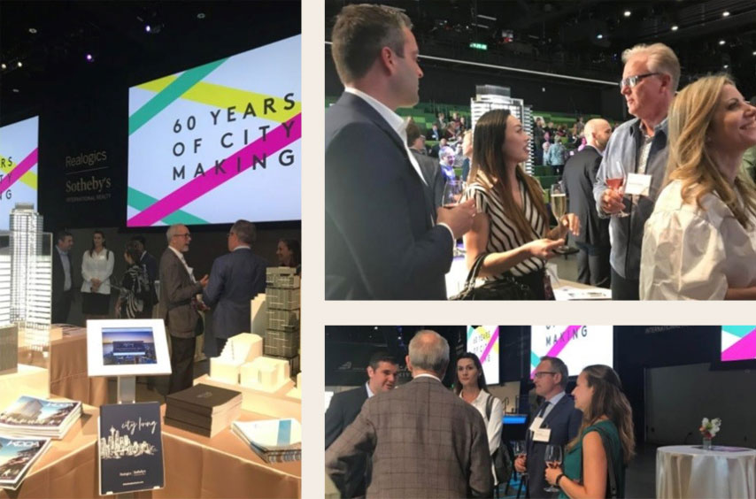 """PICTURED ABOVE: RSIR was the visionary sponsor of the Downtown Seattle Association's Annual Meeting held at the Amazon Doppler Building and featured Encore at Columbia Station as part of the """"City Living"""" showcase."""