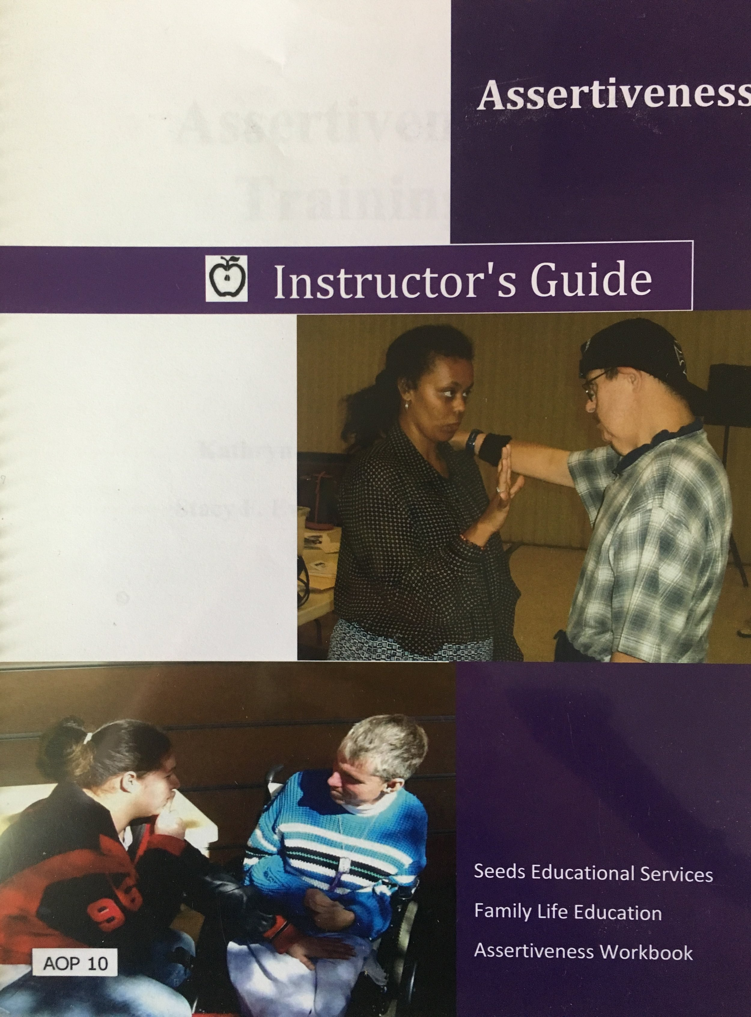 """ASSERTIVENESS - The SEEDS Assertiveness curriculum works on teaching students assertiveness skills. The instructor's guide and workbook cover topics of personal space, practicing assertiveness words and phrases, when to get loud and closer to people, and how to say """"No,"""" and mean it.Includes:7 PowerPoint Lessons, Instructor's Guides, and Student WorkbooksPlease call for pricing."""