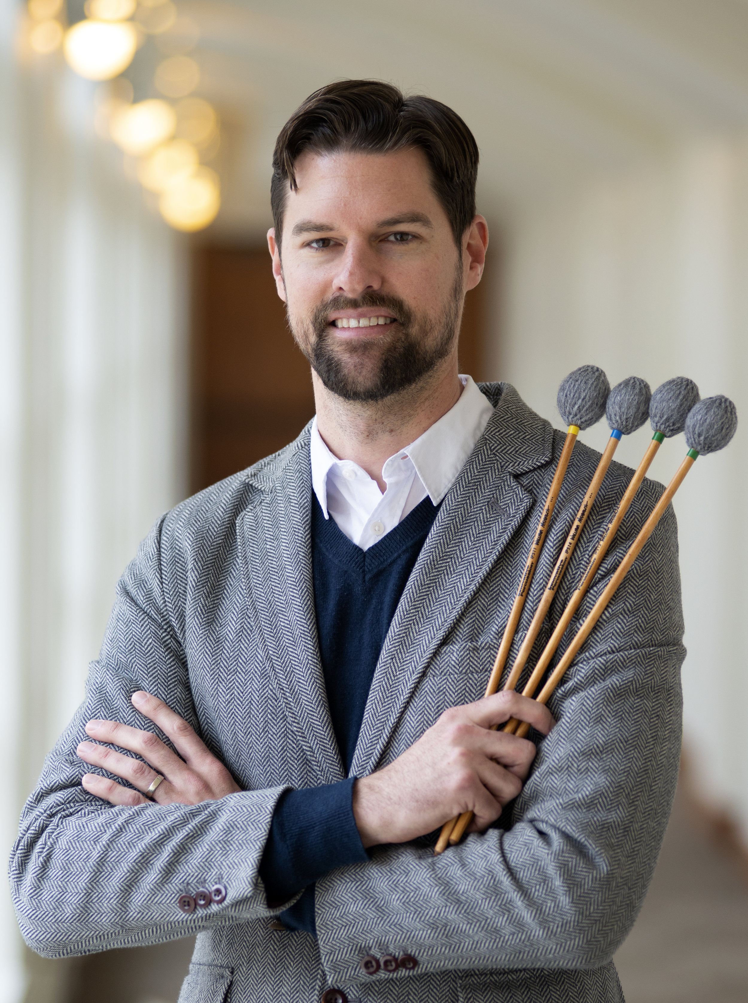 University of Maryland School of Music percussion professor, Lee Hinkle. Photo by David Andrews and is property of The Clarice Smith Performing Arts Center. All rights reserved.