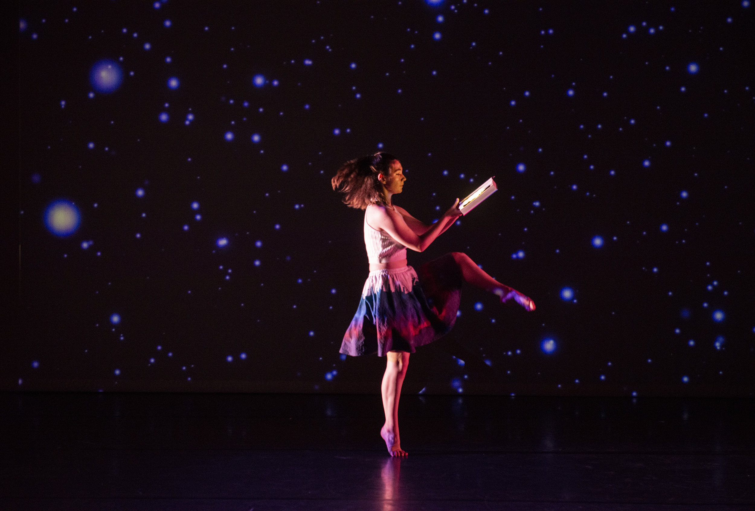 """Anna the Astronaut."" Photo by David Andrews, property of The University of Maryland School of Theatre, Dance and Performance Studies, 2019. All Rights Reserved."