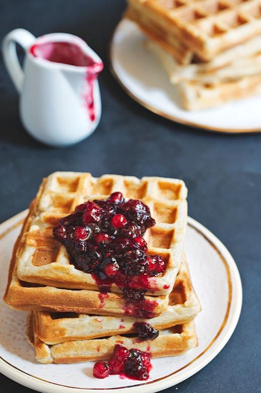 Paleo Waffle with house-made Jam