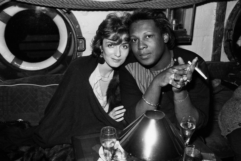 "1982, with Sylvester at a San Francisco party following ""Jazz at the Opera House,"" a fund-raiser for the writer Conrad Silvert.  (Photo: Bruce Talamon)"