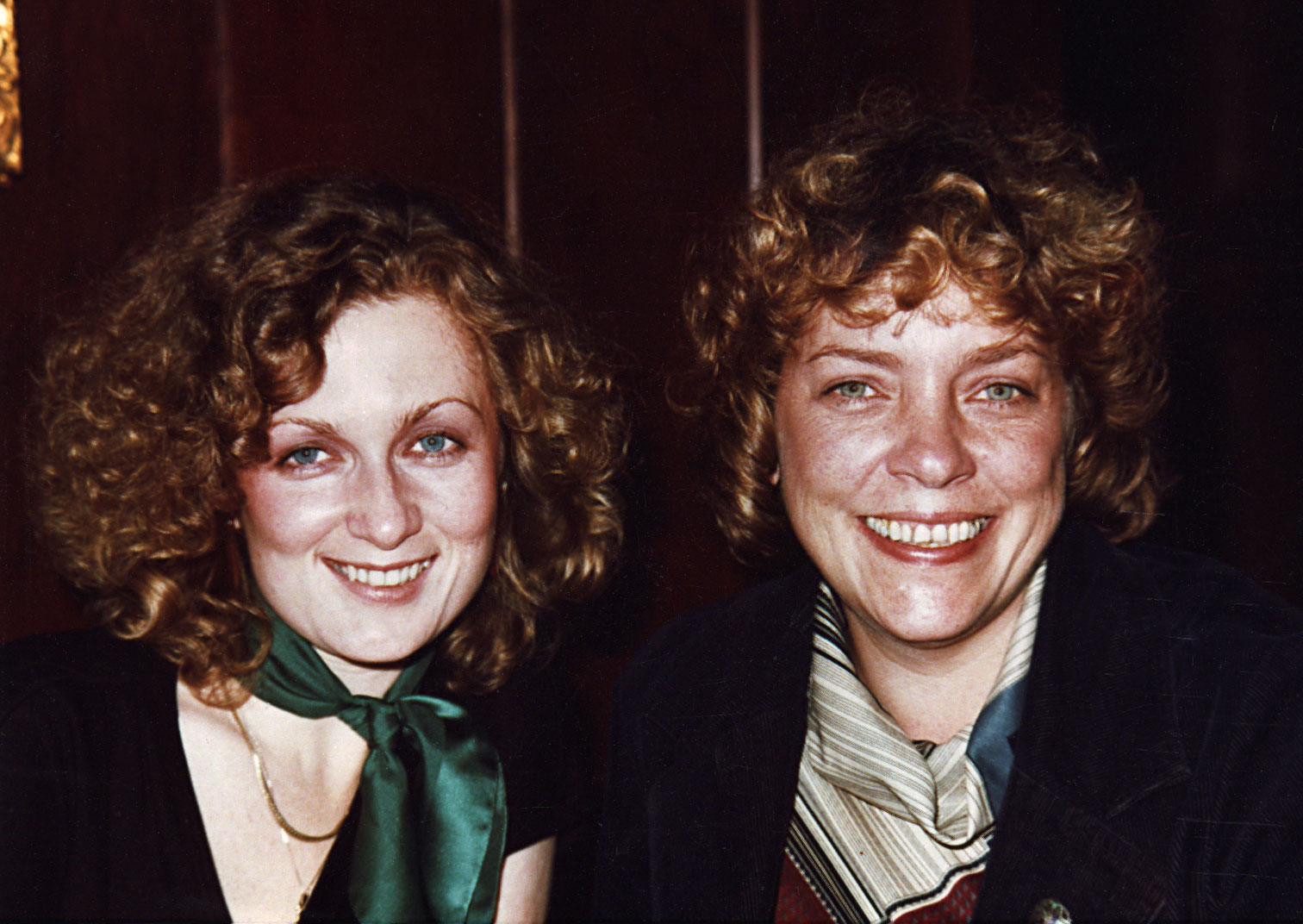 "1976, with my ""big sister"" Gretchen Horton, then Fantasy's publicity director, at Trader Vic's, Emeryville, CA. ( Photo: Lucille Rollins )"