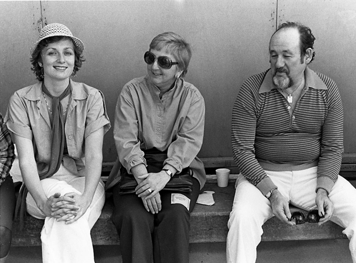 1979, backstage at the Greek Theatre, Berkeley, with Orrin and Lucy Keepnews, my dear friends and guides to the jazz life.  (Photo: Phil Bray)