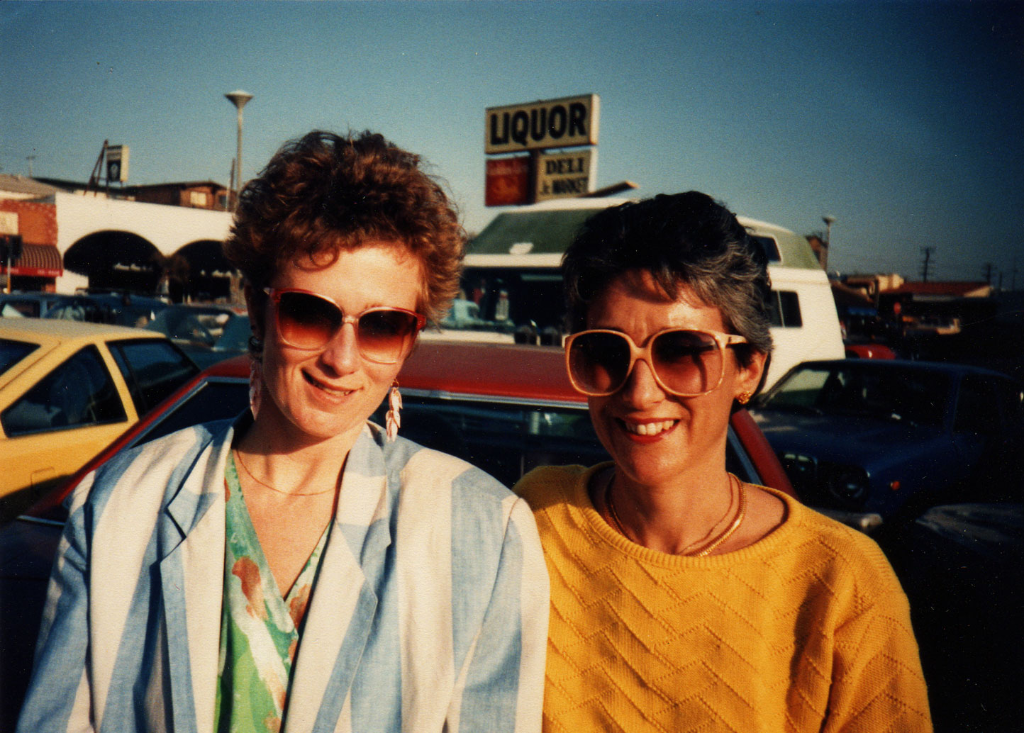 1985, with Laurie Pepper in Hermosa Beach, CA, while Azymuth was in town for an engagement at Concerts by the Sea.  (Photo: Mirandi Babitz)